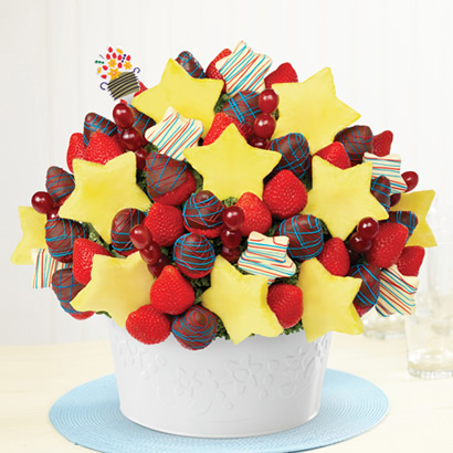 Berry Patriotic Chocolate Star Bouquet