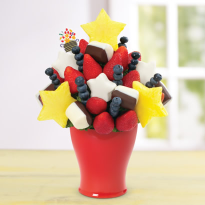 Red, White & Blueberry Daisy™ Dipped Bananas