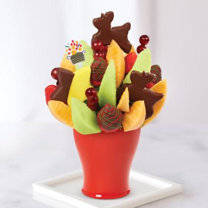 Season's Greetings Daisy Red & Green Swizzle Berries