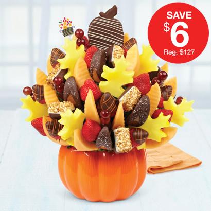 Salted Caramel Harvest Bouquet™ Orange Swizzle Berries & Hazelnut Bananas