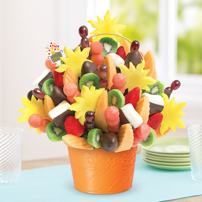Watermelon Kiwi Summer Bouquet™ Chocolate Dipped Strawberries & Bananas