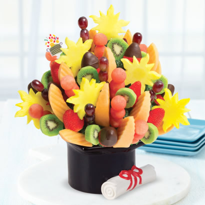 Watermelon Kiwi Summer Bouquet™ Dipped Strawberries in Graduation Keepsake