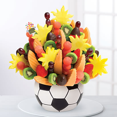 Watermelon Kiwi Summer Bouquet™ Dipped Strawberries in Soccer Keepsake