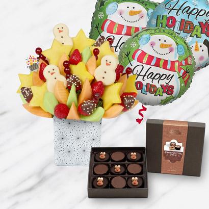 Assorted Chocolate Snowmen Bundle