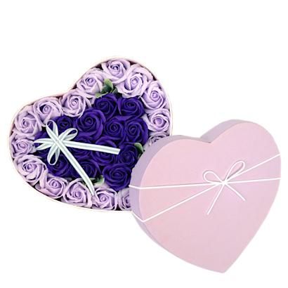 Soap Florals in Heart Box