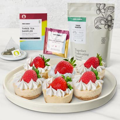 Thrive Farmers Coffee Tea and Cheesecake Bundle