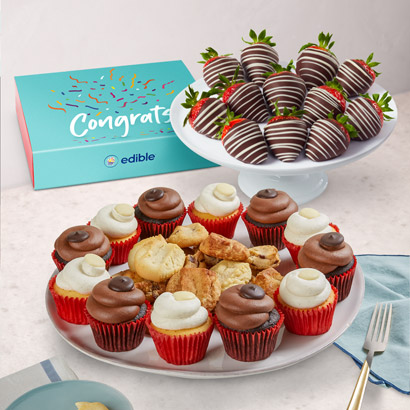 Berry Happy Congratulations Cupcake Bundle