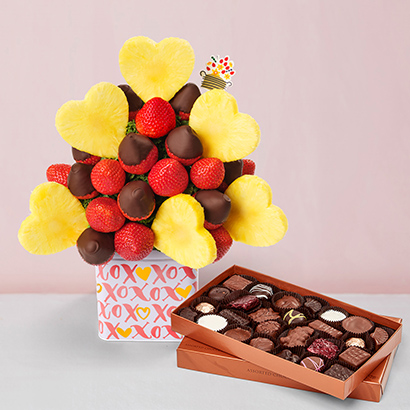 Blooming Hearts Valentines Day Chocolate