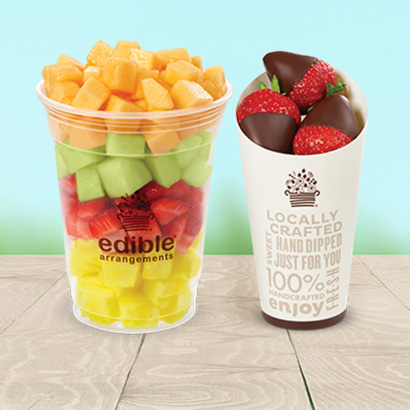 Fresh Fruit Salad & Chocolate Dipped Strawberries Cone