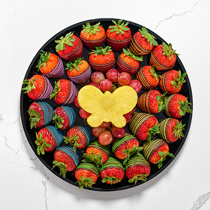 Butterflies and rainbows Platter