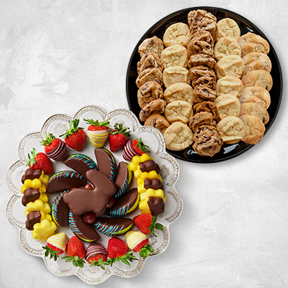 Easter Bunny Chocolate & Cookie Platters