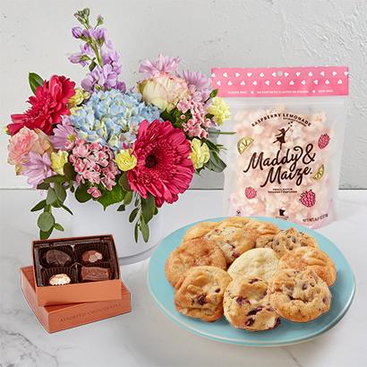 Easter Flowers  Treats Bundle