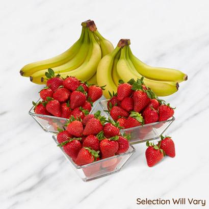 Fresh Strawberries and Bananas Box