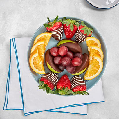 Fresh Fruit and Chocolate Fruit Platter