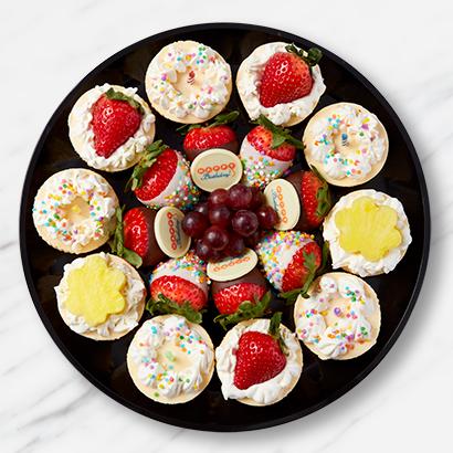 Happy Birthday Fruit And Dessert Platter