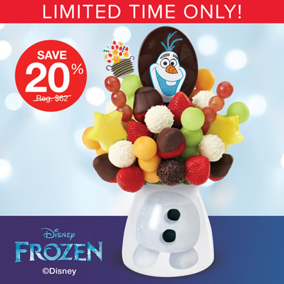 Worth Melting For – Olaf Bouquet with Dipped Strawberries
