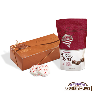 Peppermint Cookies and Fudge Gift Bundle