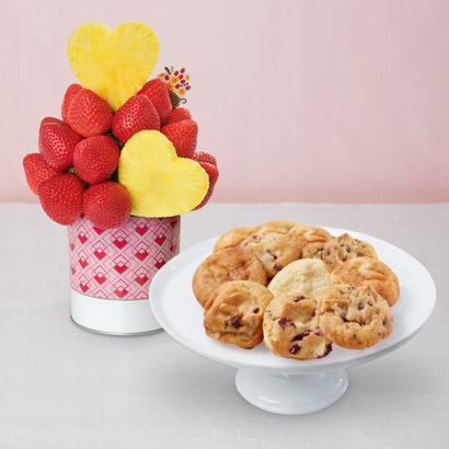 Blooming Hearts Valentines Day Cookies