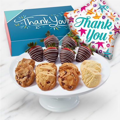 Thank You Balloon, Cookies & Fruit Gift | Edible Arrangements