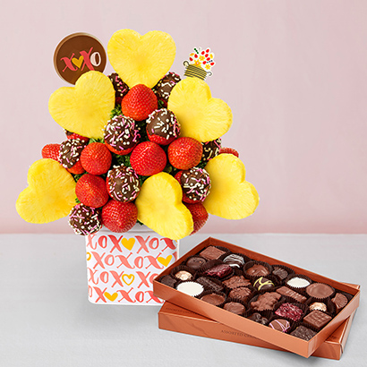 Valentine's Day Bouquet & Chocolates