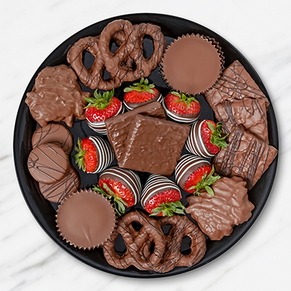 Double Chocolate and Fruit Dessert Platter