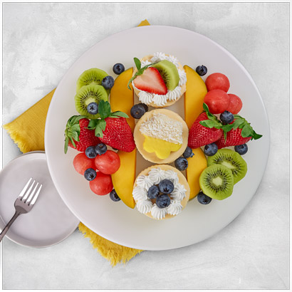 Summer Fruit and Cheesecake Platter