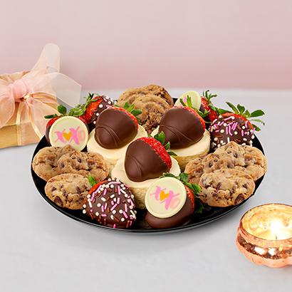 Valentines Day Brownie Platter
