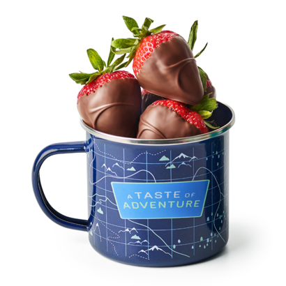The Great Outdoors Mug with Dipped Strawberries