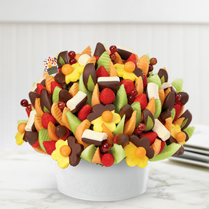 Sweet Memories Edible Arrangement with Chocolate Covered Pineapple and Bananas