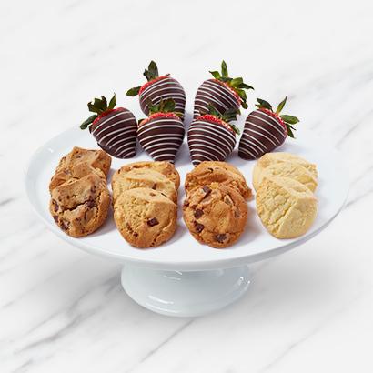 Chocolate Covered Strawberries & Cookie Box