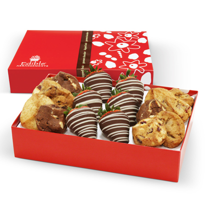 6 Swizzle berry box with 12 half dipped cookies in a 12 count box