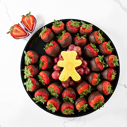 Gender Reveal Strawberry Platter (Girl)