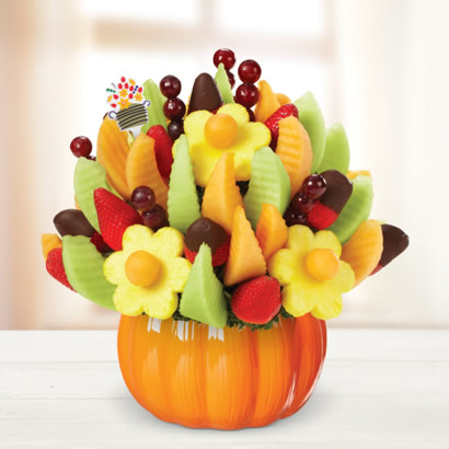 Delicious Fruit Design® Pumpkin  Dipped Strawberries