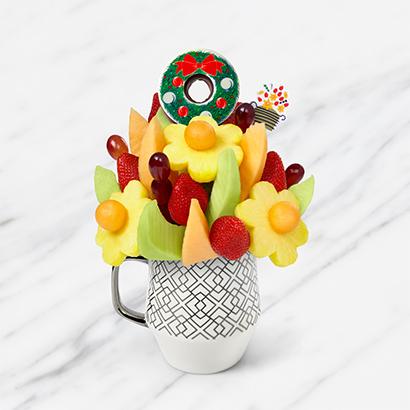 Fruit Flowers Bouquet - 1 Edible Donut Wreath