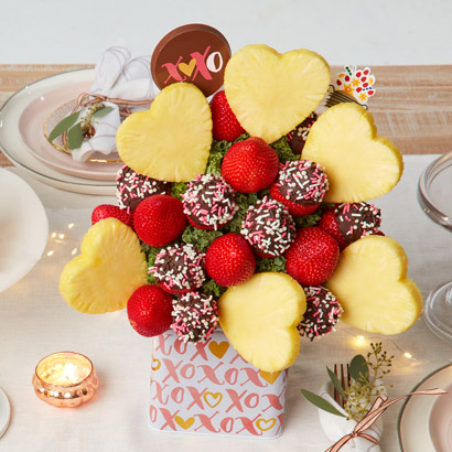 Valentines Day Berry & Pineapple Bouquet