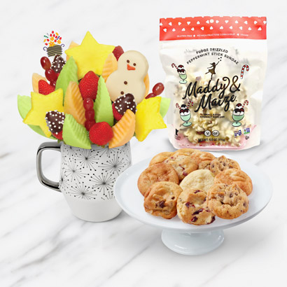 Santa's Peppermint Mug & Cookies Bundle