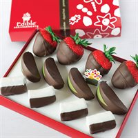 Chocolate Dipped Strawberries, Apples & Bananas Box