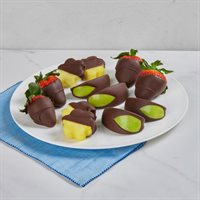Chocolate Dipped Strawberries Apples  Pineapples Box