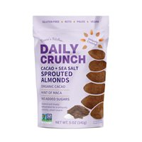 Cacao  Sea Salt Sprouted Almonds  Daily Crunch Snacks
