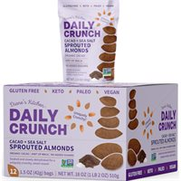 Cacao  Sea Salt Sprouted Almonds Grab  Go  Daily Crunch Snacks