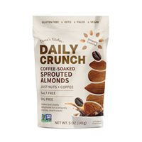 CoffeeSoaked Sprouted Almonds  Daily Crunch Snacks