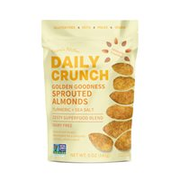 Golden Goodness Sprouted Almonds  Daily Crunch Snacks