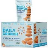 Just Sprouted Almonds Grab  Go Box  Daily Crunch Snacks