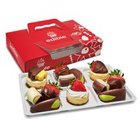 Cheesecake with Chocolate Dipped Fruit Box