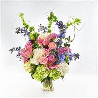 Green & Purple Flower Bouquet