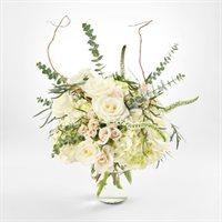 Hydrangea & White Rose Bouquet