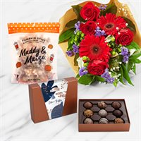 Pumpkin Popcorn & Chocolate Bouquet