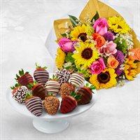 Fresh Celebrations FruitFlowers  Bouquets