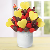 Loving Memories Pineapple Hearts and Chocolate Covered Strawberries