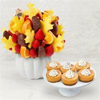 Salted Caramel Bouquet and Pumpkin Cheesecake Bundle